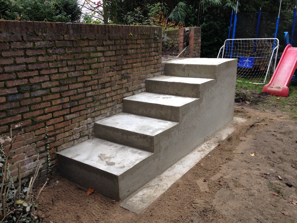 Tuin ontwerp en ontwikkeling for Buitenste trap ontwerp